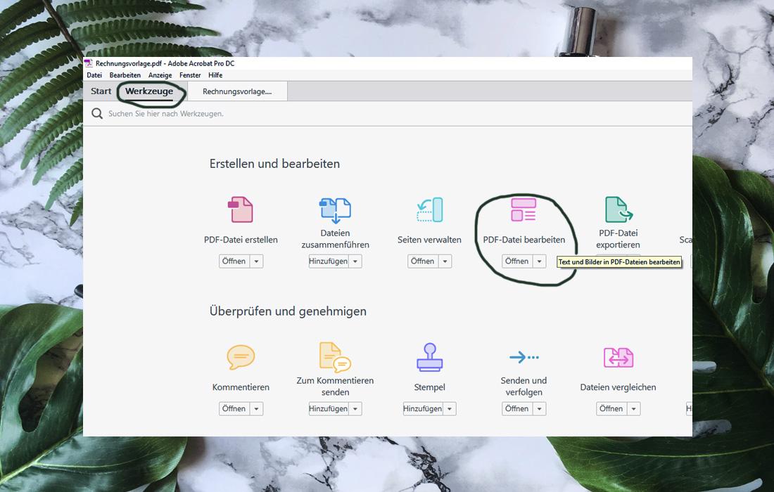 Office-Trick: PDF mit Hintergrund