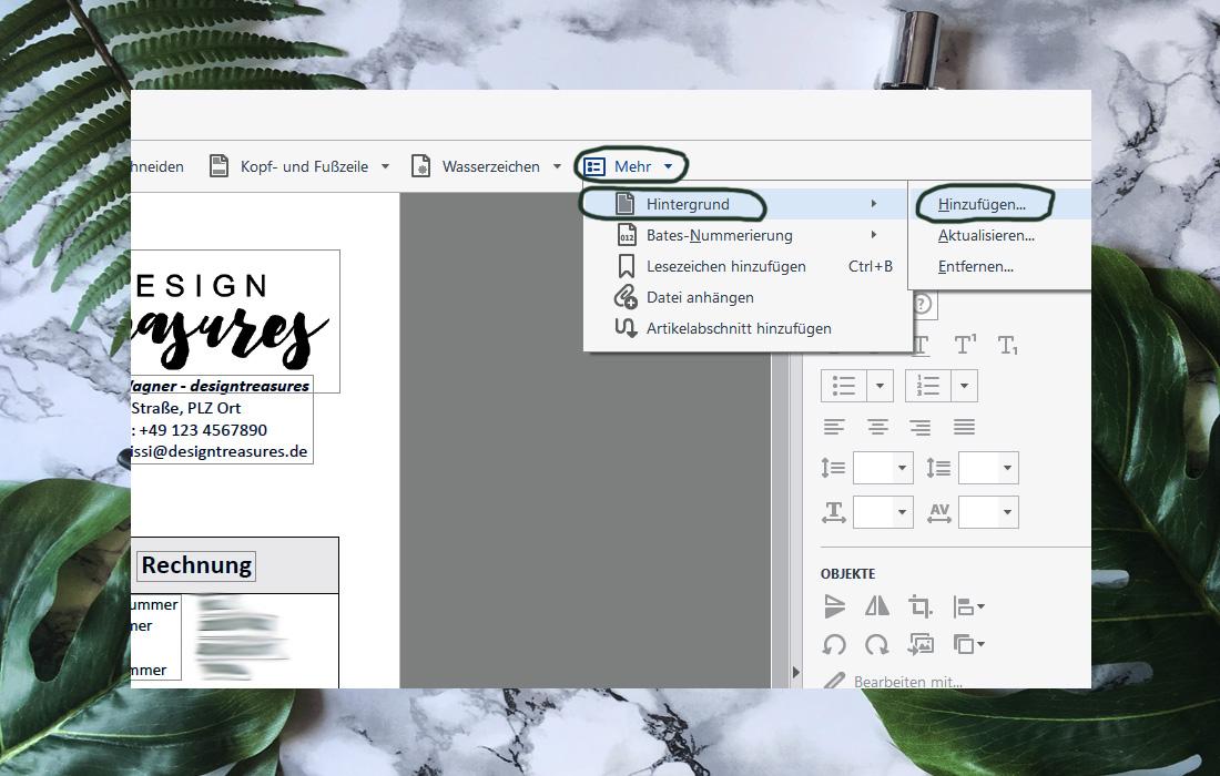Office-Trick: Wie du ein PDF mit Hintergrund versehen kannst