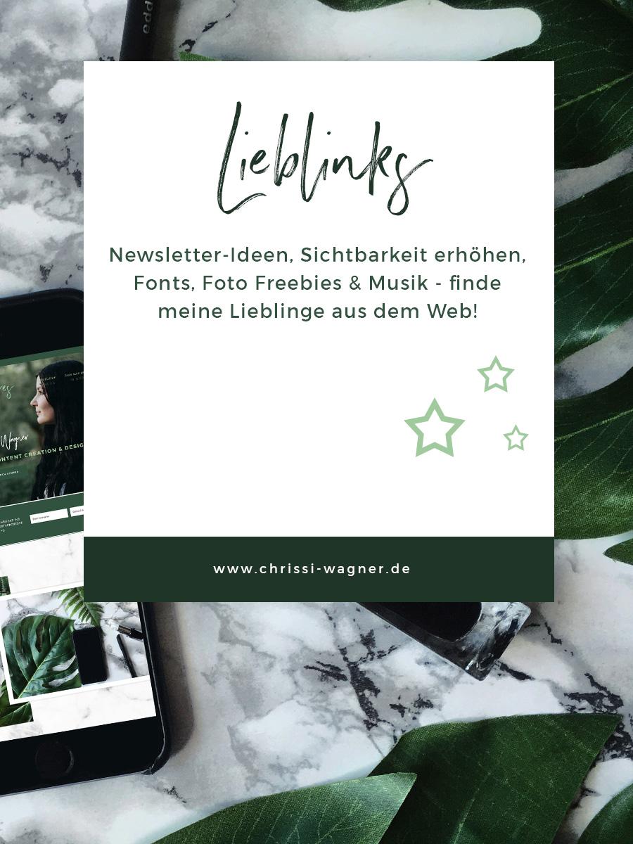 Newsletter-Ideen, Sichtbarkeit erhöhen, Fonts, Foto Freebies & Musik - finde meine Lieblinge aus dem Web! Sharing is caring