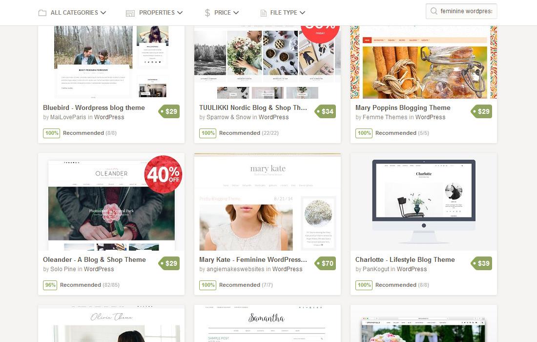 So findest du feminine WordPress Themes bei Creative Market || Chrissi-Wagner.de