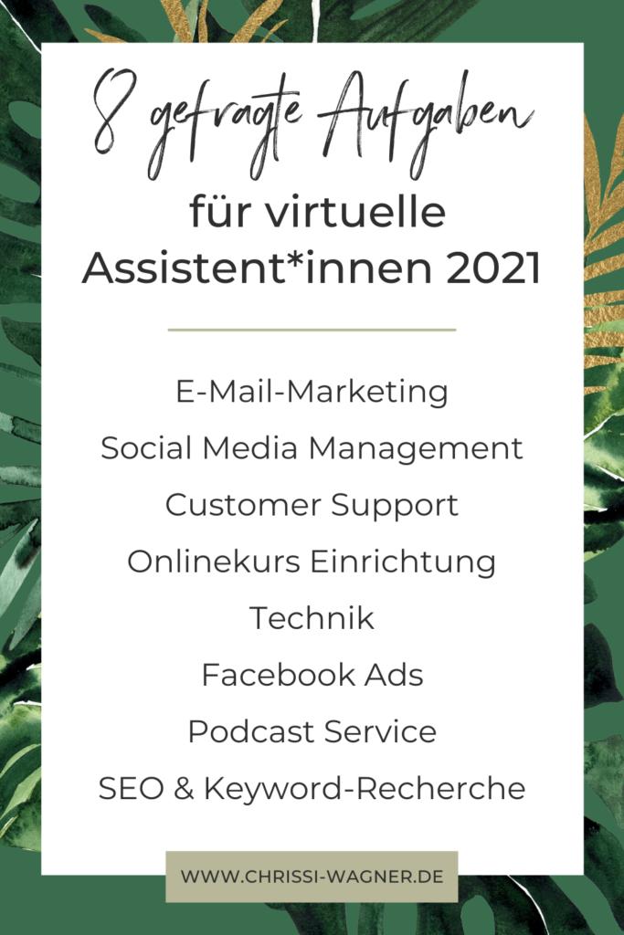 Das sind die gefragtesten Aufgaben und Dienstleistungen für virtuelle Assistent*innen 2021